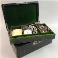 Lot 33-A COLLECTION OF GOLD WATCHES, GOLD JEWELLERY AND COSTUME JEWELLERY