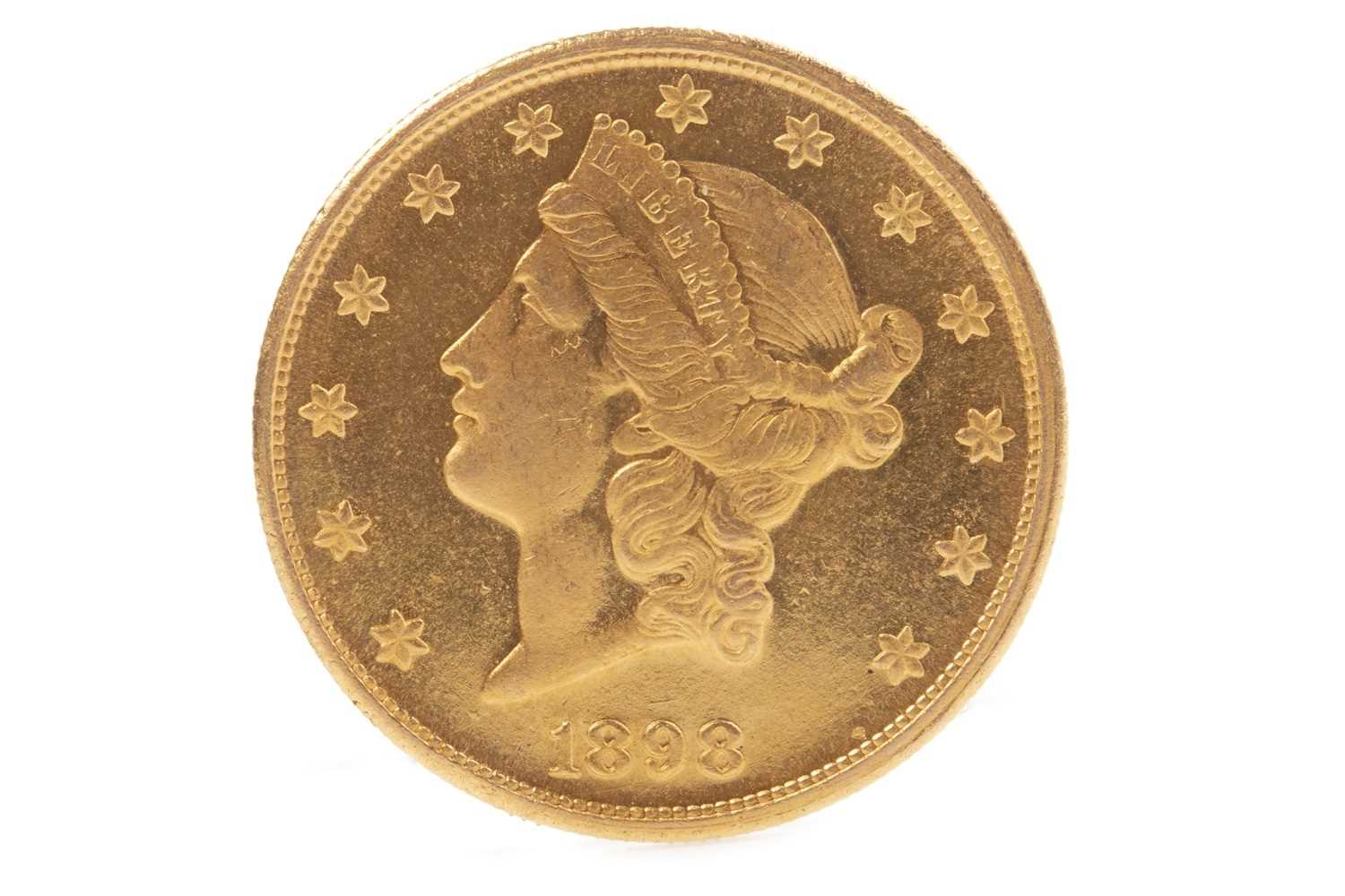 Lot 544-A USA GOLD $20 COIN DATED 1898