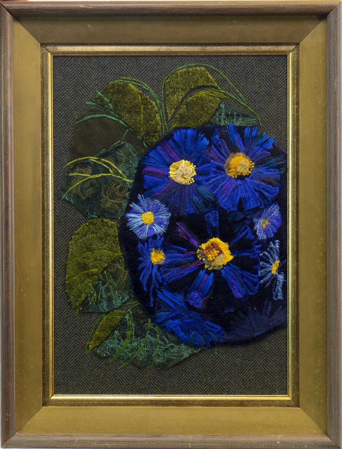 Lot 528-BLUE POSY, A TEXTILE INSTALLATION BY KIRSTY MCFARLANE