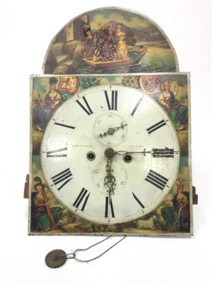 Lot 1416-A MID 19TH CENTURY LONGCASE CLOCK DIAL and MOVEMENT