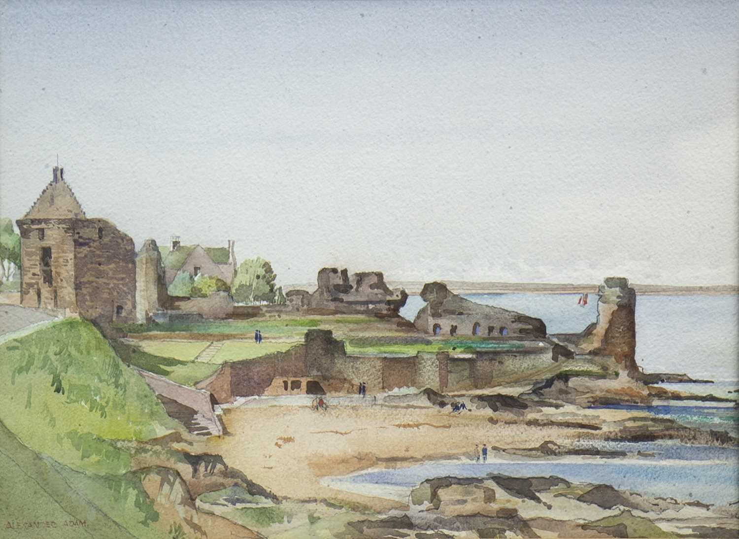 Lot 622-ST ANDREW'S ANBEY, A WATERCOLOUR BY ALEXANDER ADAM