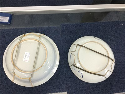 Lot 1020-A LOT OF FOUR BLUE AND WHITE PLATES