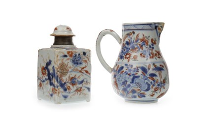 Lot 1019-A LATE 19TH CENTURY CHINESE IMARI JUG AND LIDDED JAR