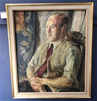 Lot 51-PORTRAIT OF A MAN, AN OIL BY GEORGE H MCINTOSH