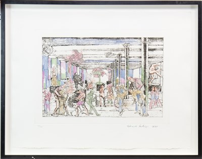 Lot 538-LES CHANTS DE MALDOROR, DUCASSE, AN ETCHING WITH EXTENSIVE HAND COLOURING BY SIR EDUARDO PAOLOZZI