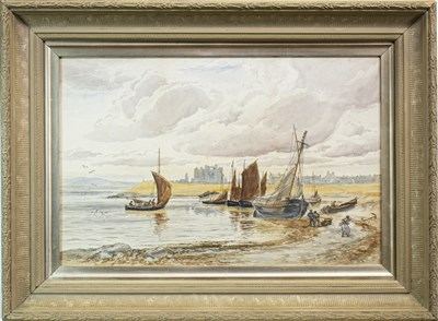 Lot 438-DIVIDING THE CATCH, A WATERCOLOUR BY ALEXANDER BALLINGALL