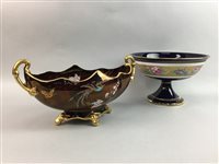 Lot 54-A CARLTON WARE ROUGE ROYALE COMPORT AND ANOTHER COMPORT