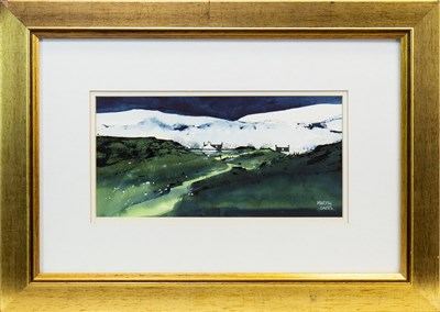 Lot 534-WINTER,  SUTHERLAND, A WATERCOLOUR BY MARTIN OATES