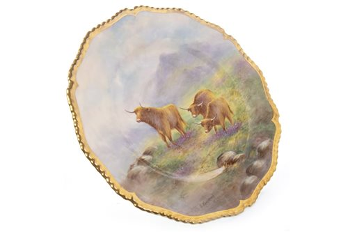 Lot 1061-A ROYAL WORCESTER PLATE BY EDWARD TOWNSEND