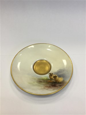 Lot 1065-A ROYAL WORCESTER COFFEE CUP AND SAUCER BY A BARRY