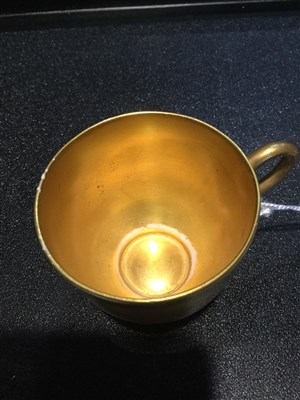 Lot 1066-A ROYAL WORCESTER CUP AND SAUCER BY HARRY STINTON