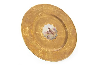 Lot 1068-A ROYAL WORCESTER  PLATE BY EDWARD TOWNSEND