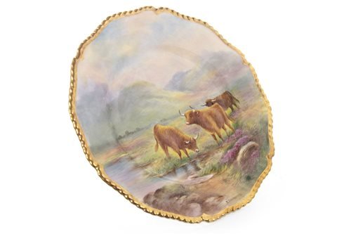 Lot 1069-A ROYAL WORCESTER PLATE BY EDWARD TOWNSEND