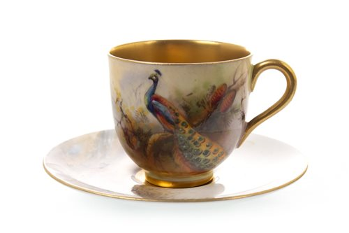 Lot 1073-A ROYAL WORCESTER COFFEE CUP AND SAUCER
