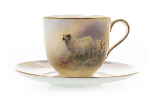 Lot 1079-A ROYAL WORCESTER CUP AND SAUCER BY J SMITH