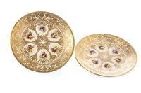Lot 1081-A PAIR OF ROYAL WORCESTER PLATES BY ALBERT SHUCK