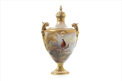 Lot 1239-A ROYAL WORCESTER VASE AND COVER BY R AUSTIN