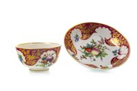 Lot 1088-AN 18TH CENTURY WORCESTER TEA BOWL ON STAND
