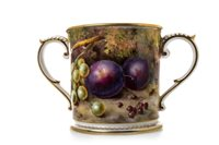 Lot 1095-A ROYAL WORCESTER LOVING CUP BY L FLAXMAN