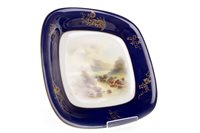 Lot 1103-A PAIR OF ROYAL WORCESTER SQUARE COMPORTS BY JOHN STINTON