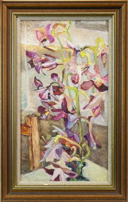 Lot 630-FLORAL STILL LIFE, AN OIL BY ALMA WOLFSON