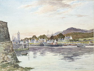 Lot 631-TARBERT, A WATERCOLOUR BY JOHN COCHRANE