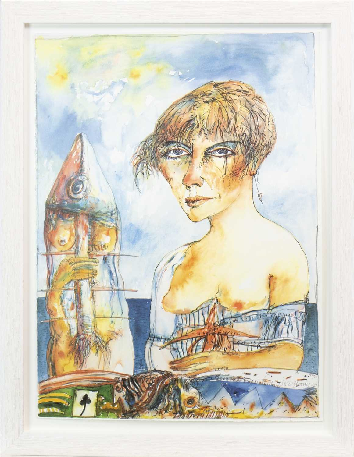 Lot 541-CELTIC VOYAGE, A LITHOGRAPH BY JOHN BELLANY