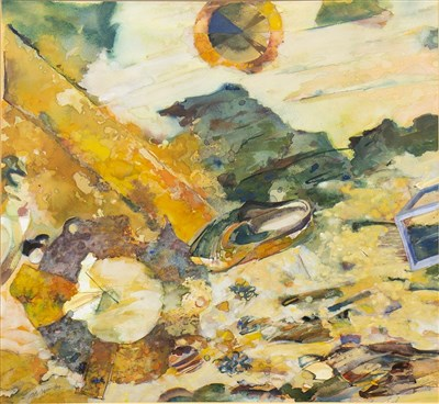 Lot 543-FLOTSAM, DYSART, A WATERCOLOUR BY ALFONS JASINSKI