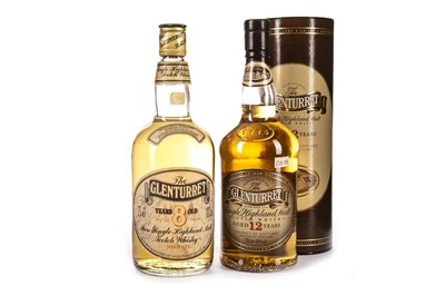 Lot 329-GLENTURRET 12 AND 8 YEARS OLD