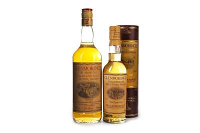 Lot 336-ONE AND A HALF BOTTLES OF GLENMORANGIE 10 YEARS OLD