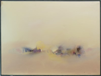 Lot 655-IMPRESSION OF A VILLAGE, AN OIL BY ANTHONY KRIKHAAR