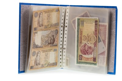 Lot 550-COLLECTION OF INTERNATIONAL BANKNOTES