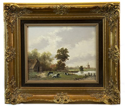 Lot 636-CATTLE RESTING, AN OIL