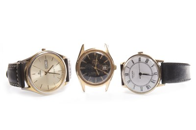 Lot 877-THREE GENTLEMAN'S WATCHES: ORIS, LORUS AND SEKONDA