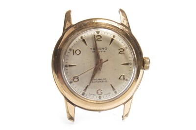 Lot 864 - A GENTLEMAN'S THERNO AUTOMATIC PLATED WATCH