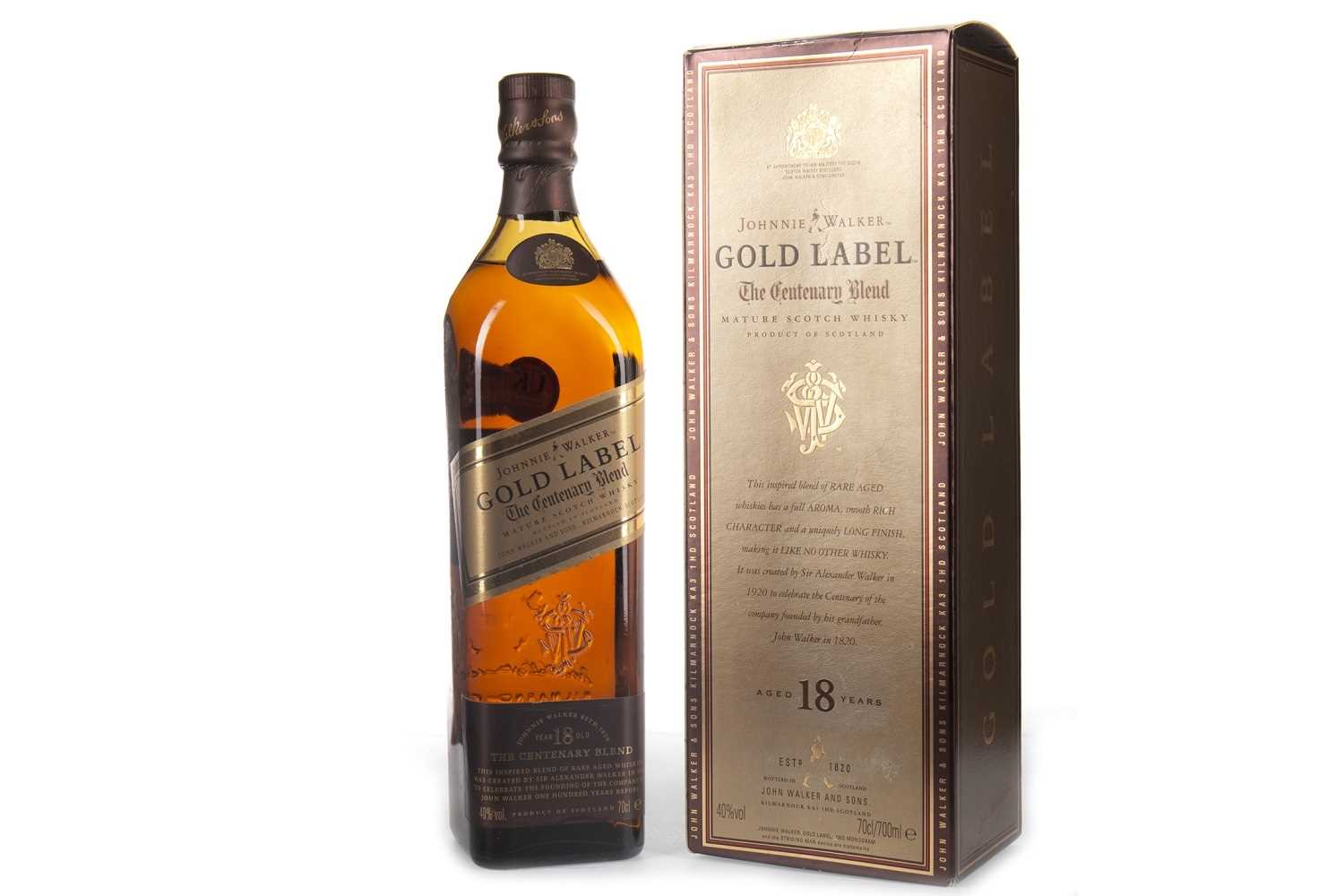 Lot 418-JOHNNIE WALKER THE CENTENARY BLEND 18 YEARS OLD