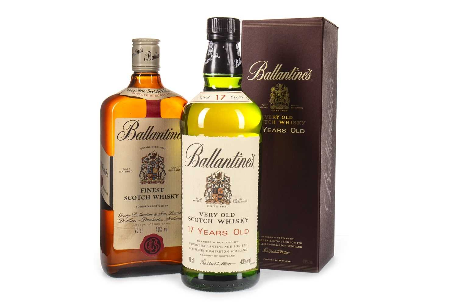 Lot 421-BALLANTINE'S 17 YEARS OLD & FINEST