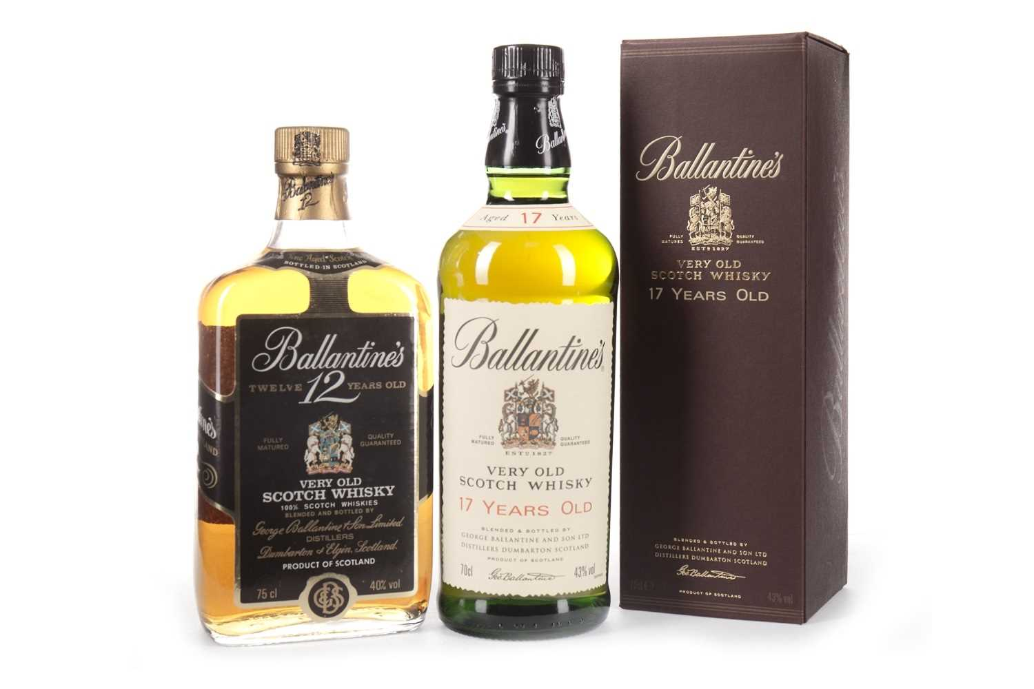 Lot 422-BALLANTINE'S 17 YEARS OLD & 12 YEARS OLD