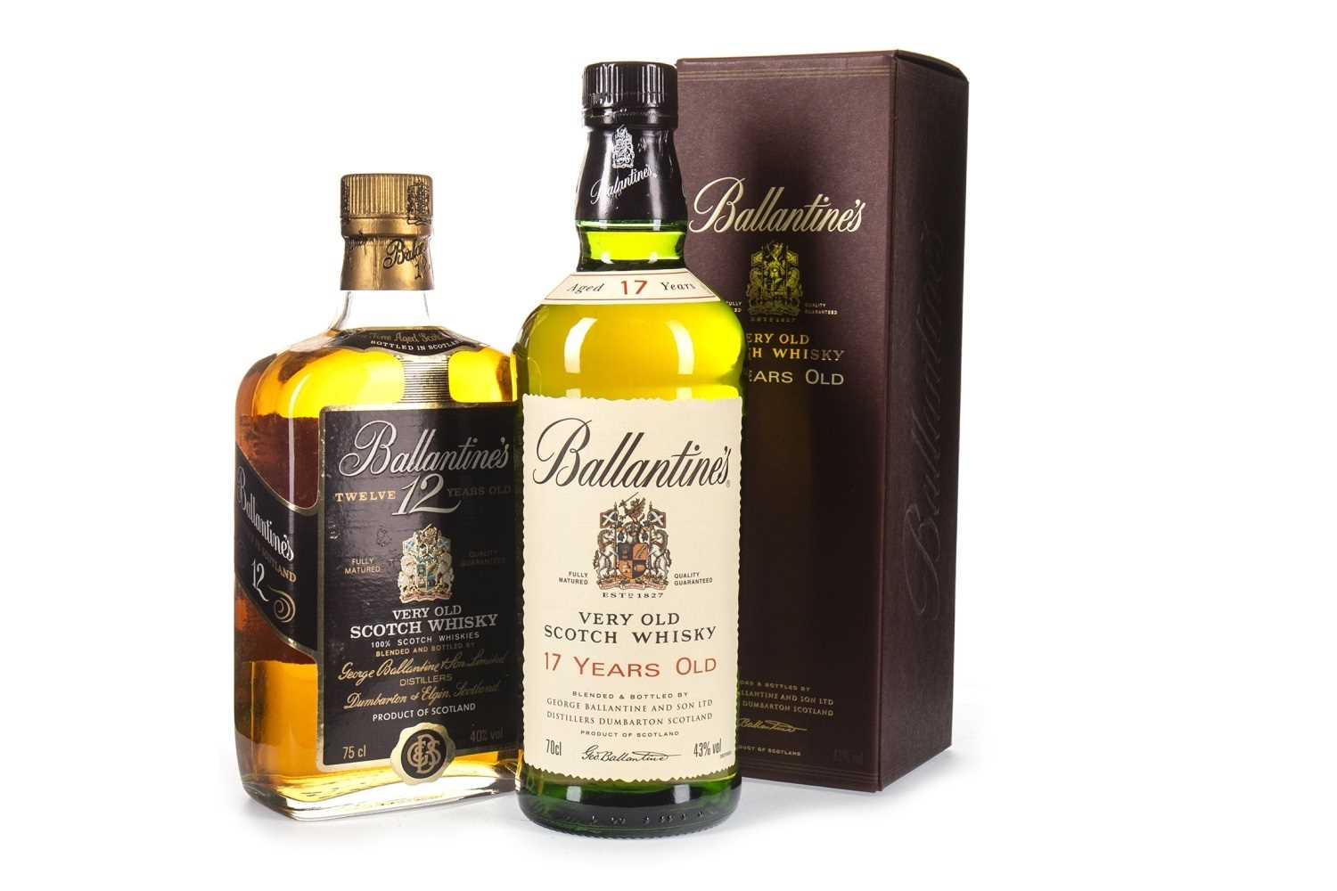Lot 424-BALLANTINE'S 17 YEARS OLD & BALLANTINE'S 12 YEARS OLD