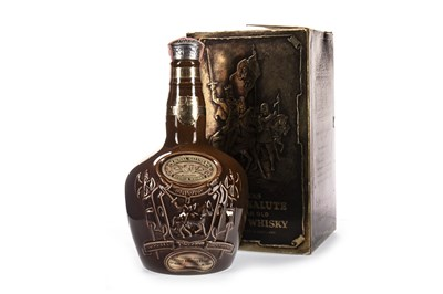 Lot 436-CHIVAS REGAL ROYAL SALUTE 21 YEARS OLD - BROWN FLAGON