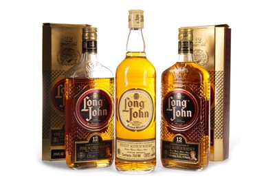 Lot 441-TWO BOTTLES OF LONG JOHN 12 YEARS OLD AND ONE LONG JOHN