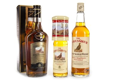 Lot 442-FAMOUS GROUSE GOLD RESERVE AGED 12 YEARS, AND FAMOUS GROUSE FINEST 75CL & 35CL