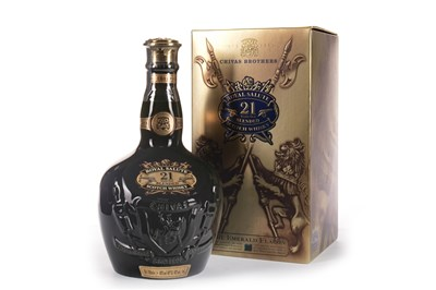 Lot 445-CHIVAS REGAL ROYAL SALUTE 21 YEARS OLD - EMERALD FLAGON