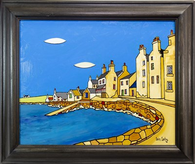 Lot 600-ST MARGARET'S HOPE, AN OIL BY IAIN CARBY