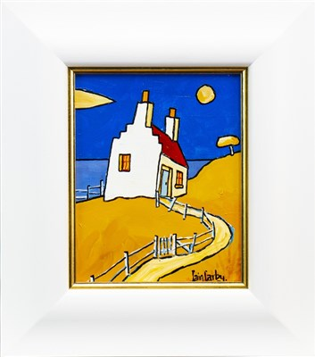 Lot 645-CROFT AT KNOYDART, AN OIL BY IAIN CARBY