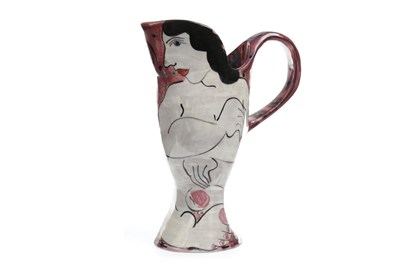 Lot 1214-A STUDIO POTTERY JUG BY KAREN ATHERLEY