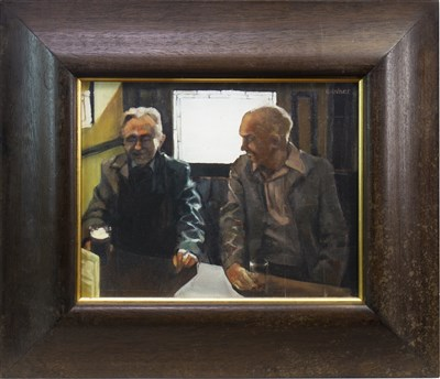 Lot 616-OLD PALS, AN OIL BY ALEXANDRA GARDNER