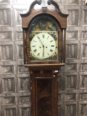 Lot 1413-AN EARLY VICTORIAN MAHOGANY LONGCASE CLOCK BY ROBERT JARDINE, BATHGATE