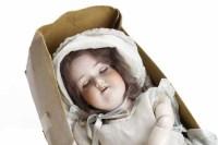 Lot 1212 - ARMAND MARSEILLE DOLL with sleeping blue eyes...