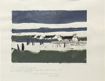Lot 643-ISLE OF EASDALE, SCOTLAND, A MIXED MEDIA BY J EICHBERGER
